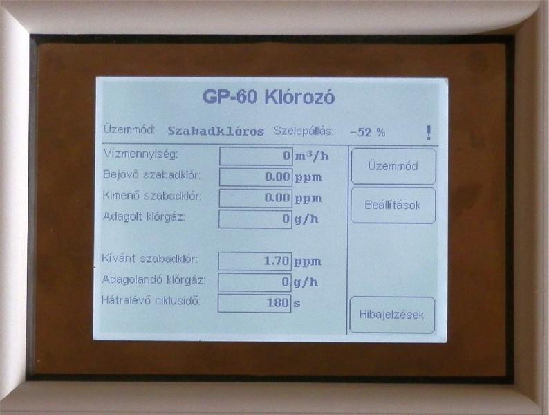 GP-60 klórozás szabályzó